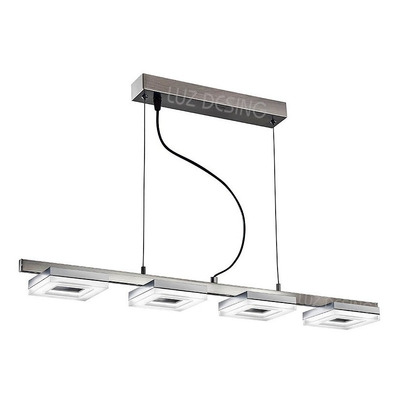 Colgante Norly Led Moderno Acero 4 Luces 20w Cie