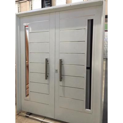 Porton puerta doble chapa inyectada 160x200 atex postigos for Puerta doble hoja exterior