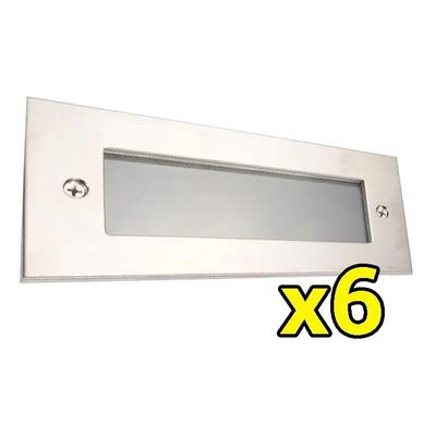 X 6 Spot Embutir Aluminio Pared Led Incluido Ideal Escalera