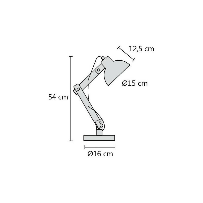 Lampara Velador Moderna Cable Textil Madera Arlon Apto Led