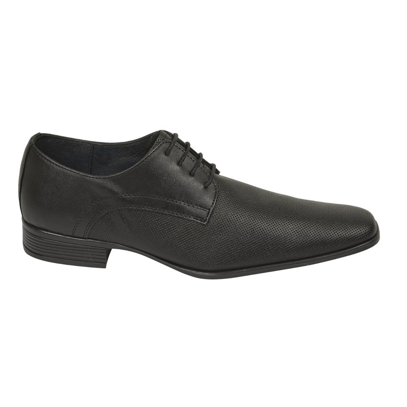 Zapato vestir negro punta texturizada 018605