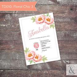 Invitación digital TD010 (Flor...