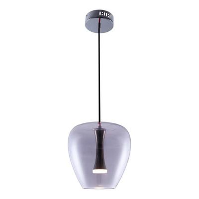 Lámpara Colgante Syrma Vidrio Fume Led 5w Deco Moderno Cu Lk