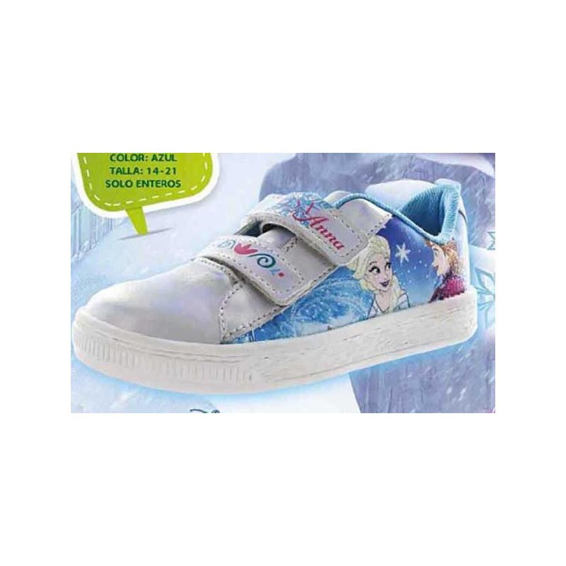 Sneakers Frozen azul y blanco con luces T06006