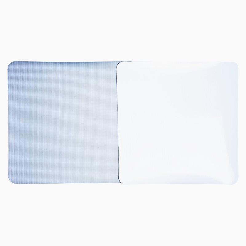 Lona pvc para frontlight Superfront branca brilho avesso cinza (440 g) larg. 3,20 m