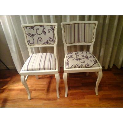 Antiguas sillas estilo vintage las hacemos a tu gusto - Tapizado de sillas antiguas ...