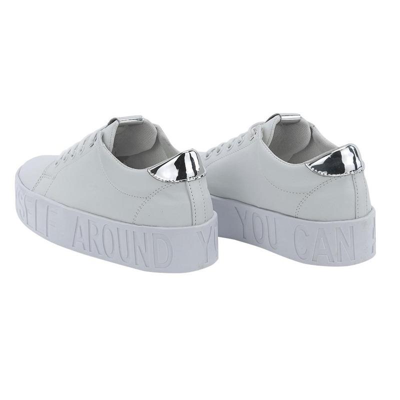 Sneakers Blanco Con Detalle Plata 020993