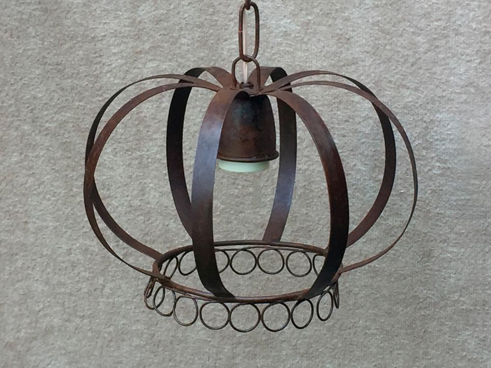 Listón Con 3 Lámparas Colgante Corona Chica...