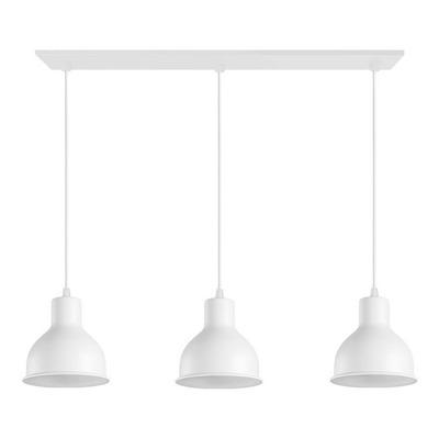Colgante 3 Luces Campana Blanca Deco Moderno Luz Desing