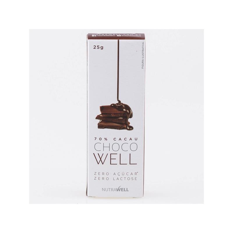 ChocoWell 70% Cacau - 25g - Nutrawell