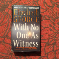 Elizabeth George. WITH NO ONE AS WITNESS.