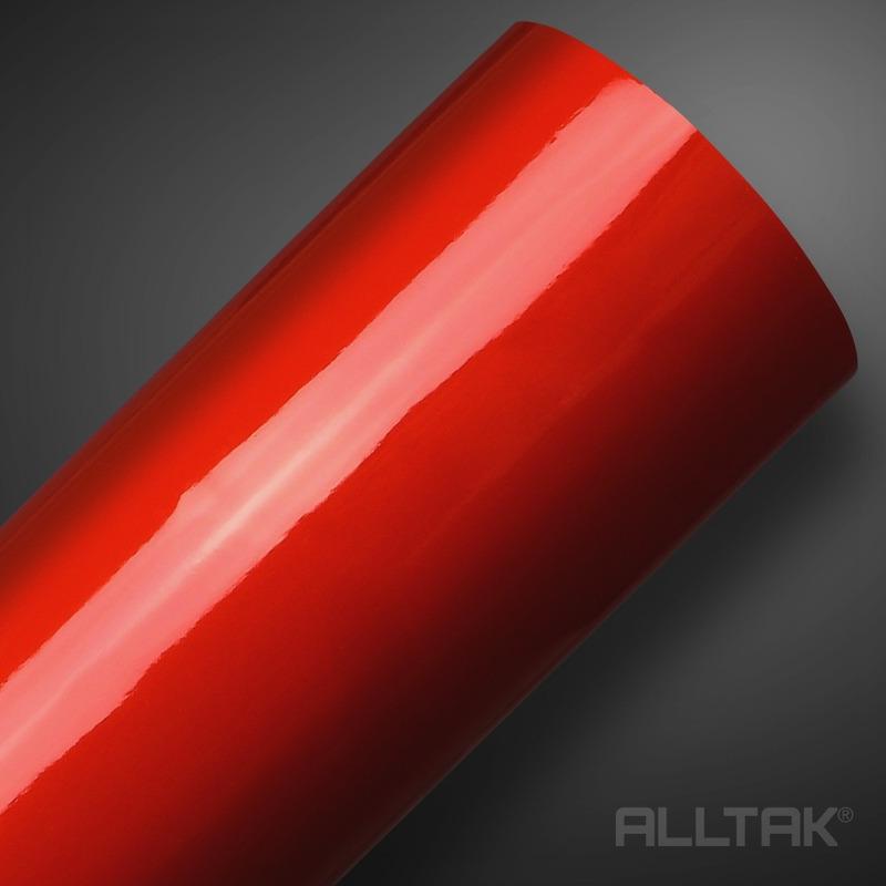 Adesivo brilho ultra envelopamento automotivo vermelho blood larg. 1,38 m