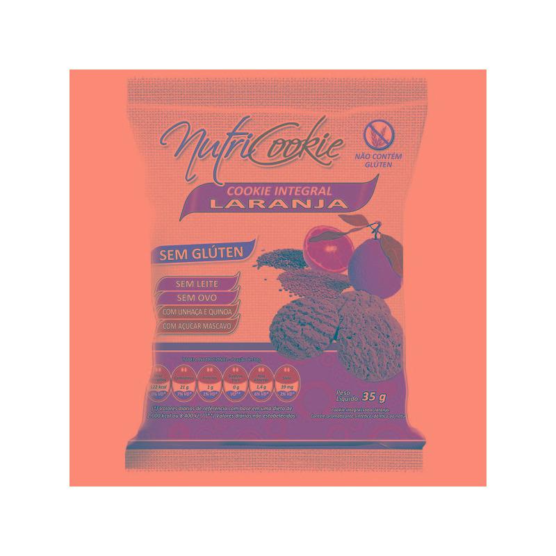 NutriCookie Integral  de Laranja Sem Gluten 35g - NutriPleno