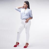 Pantalón Blanco Ajustado 019519