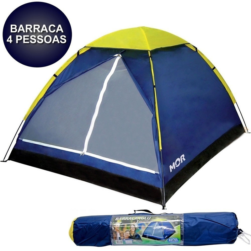 BARRACA IGLU 4 PESSOAS MOR + 01 COLCHÃO DE CASAL INFLÁVEL.FULL