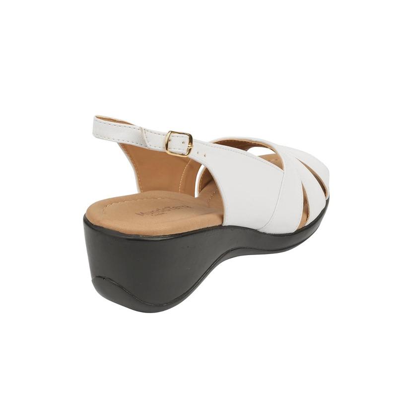 Sandalia plataforma negra piel 016639