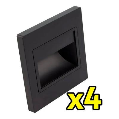 X 4 Embutido Pared Ideal Escalera Web Led Negro Exterior