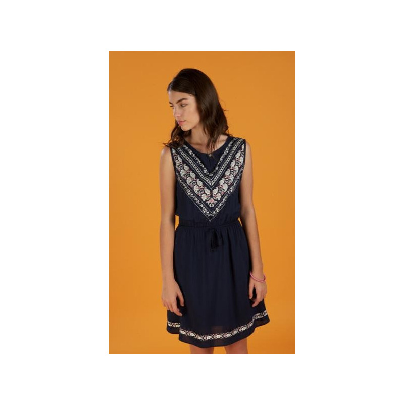 Vestido marino sin manga 012644