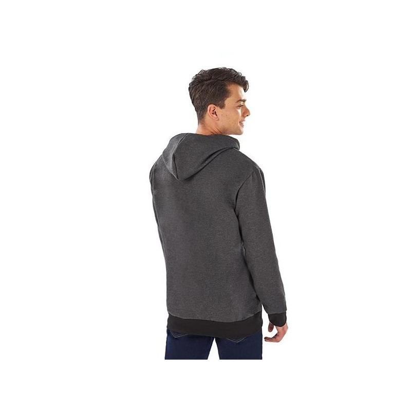 Sudadera estampada gris con negro 014593