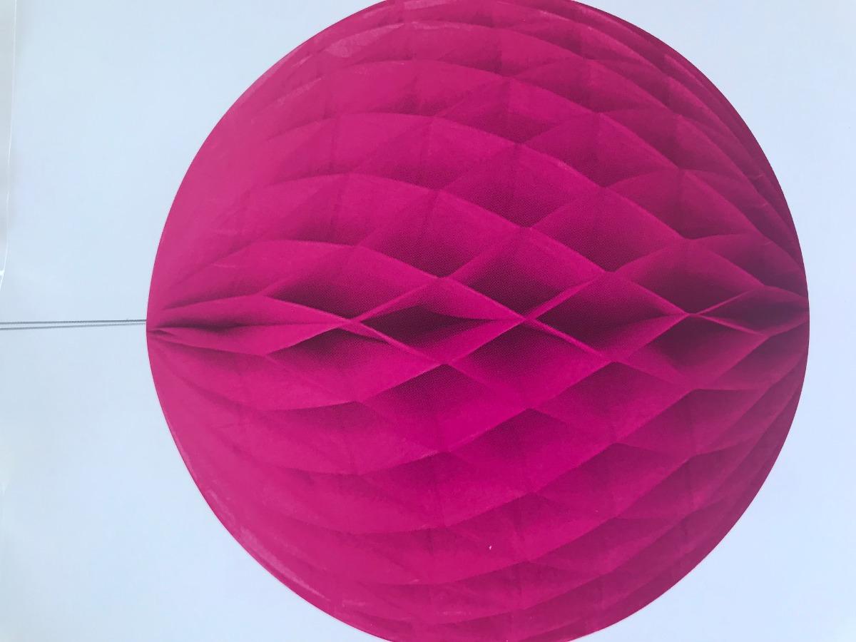Bola de papel nido de abeja  fucsia