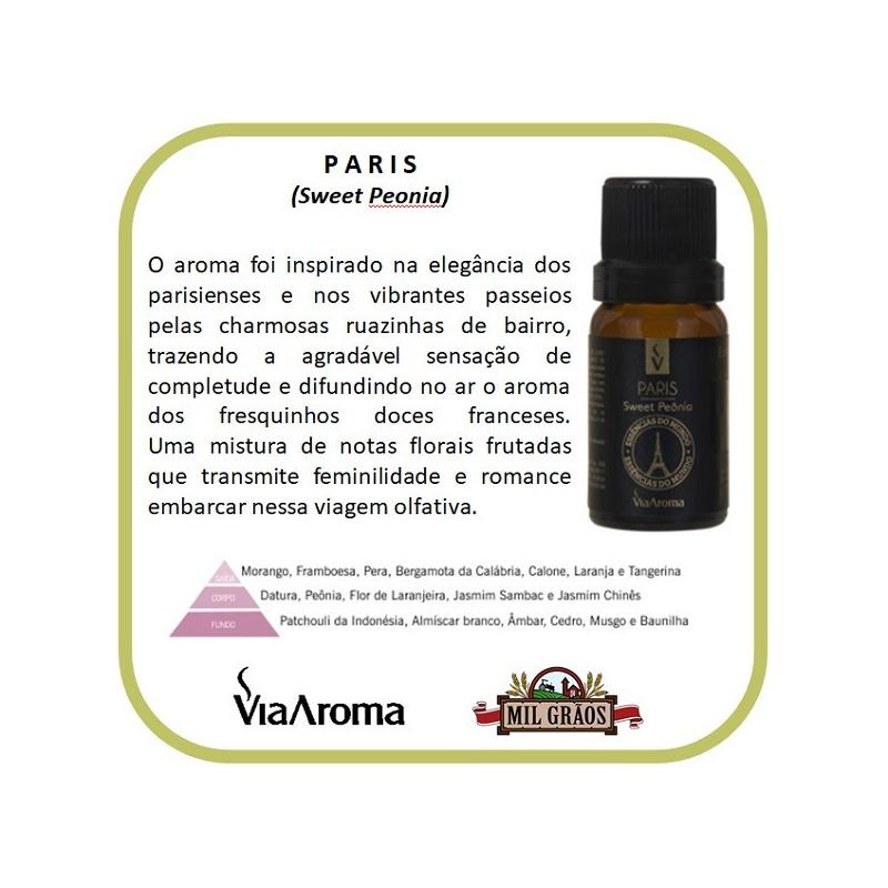 Essencia Cidades do Mundo Paris Sweet Peonia 10ml Via Aroma