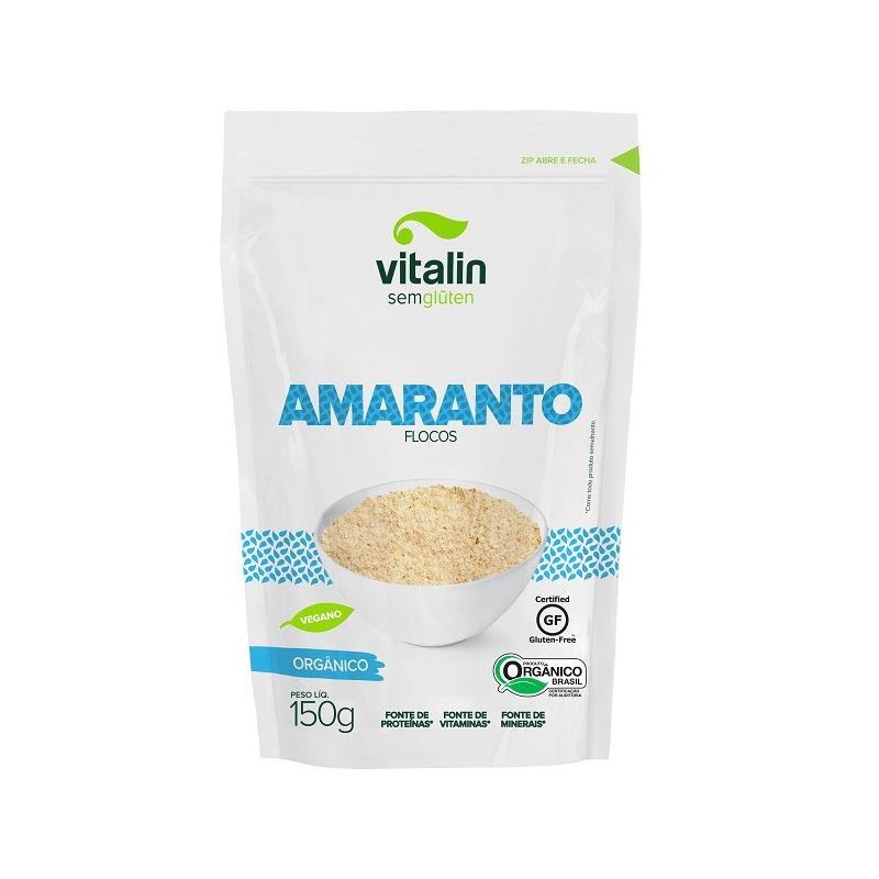 Amaranto Organico em Flocos - 150g Vitalin