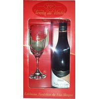 Kit com 1 taça + 1 Vinho Frisante Prosecco - Adega Terra do Vinho