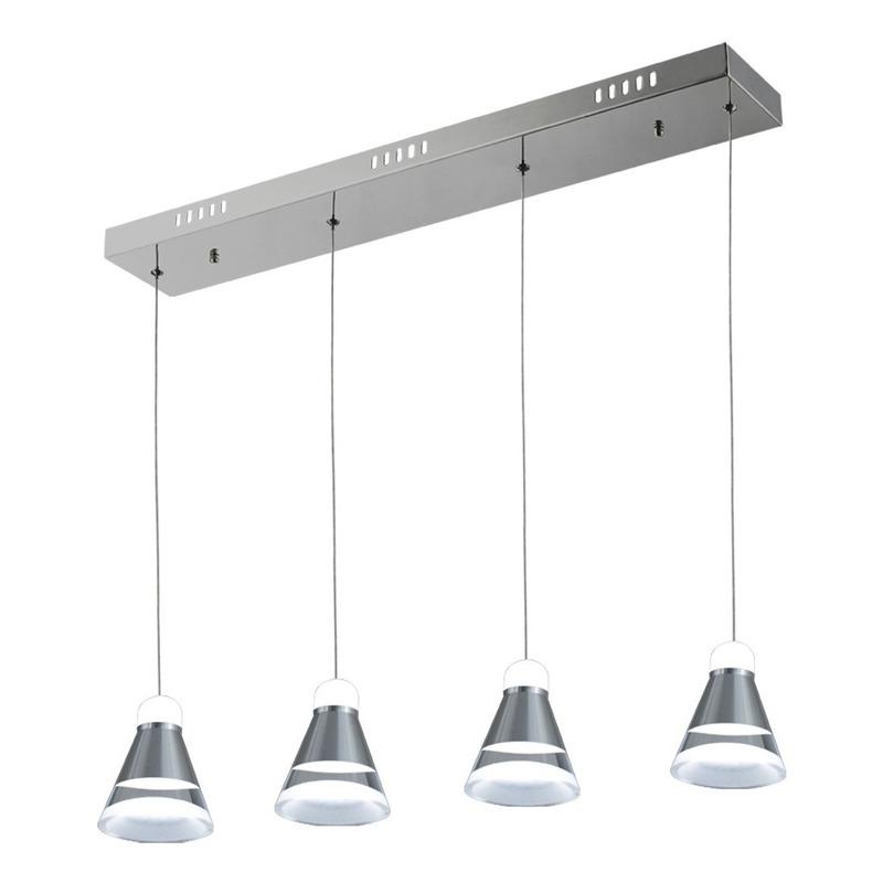 Lampara Colgante 4 Luces 20w Catia Deco Led Diseño Vig