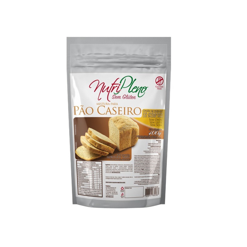 Pao Caseiro Sem Gluten - 400g - NutriPleno