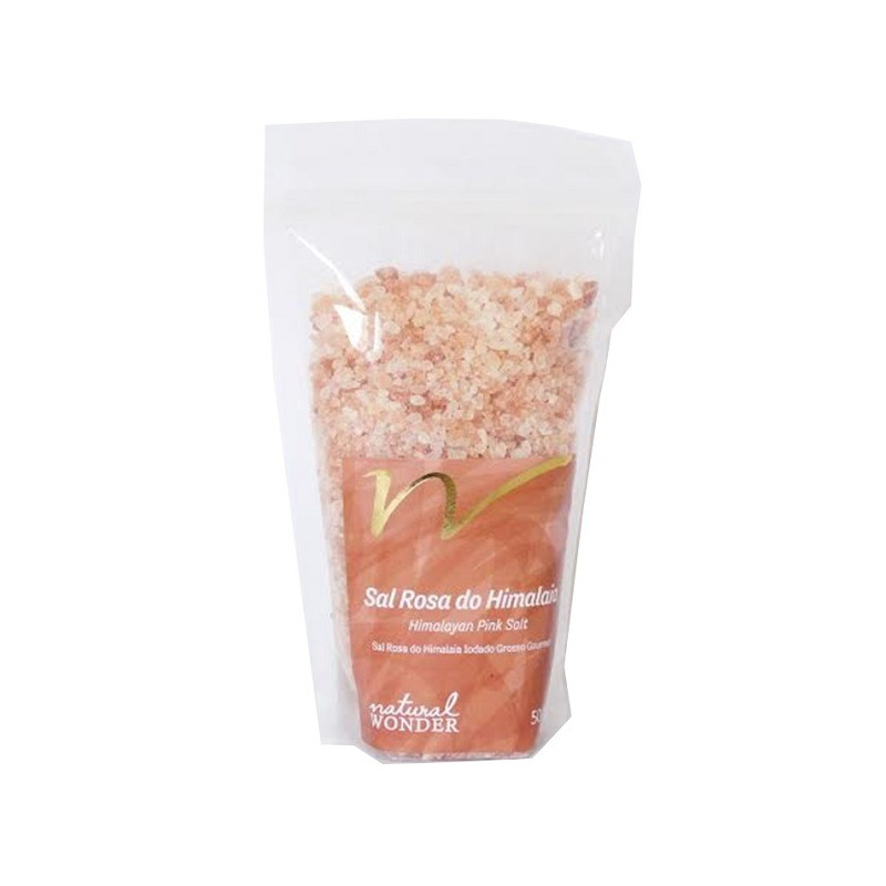 Sal Rosa do Himalaia Grosso 500g - Natural Wonder