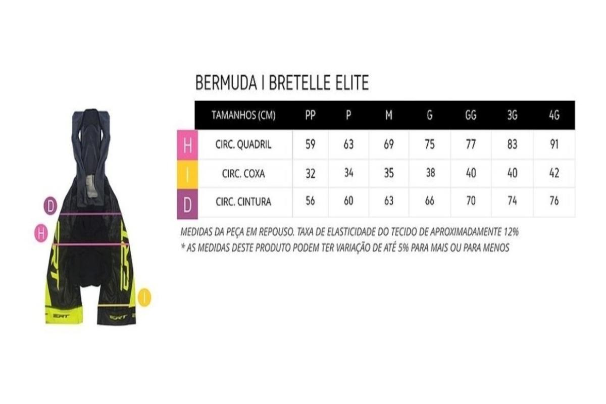 Bermuda Ert Elite Forro Gel Preto Liso Xtreme Dry