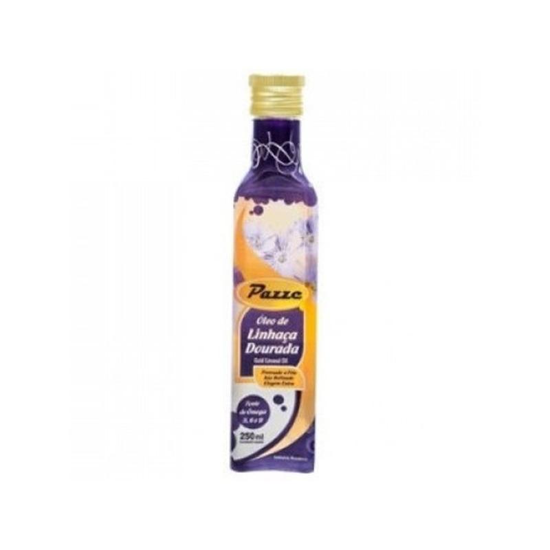 Oleo de Linhaca Dourada Extra Virgem 250ml - Pazze