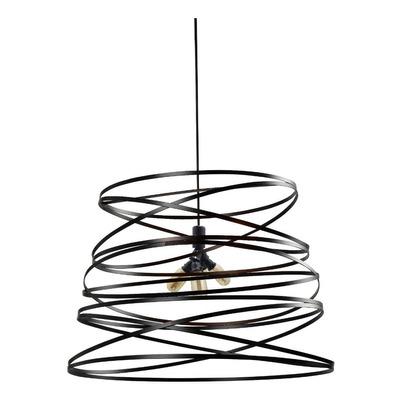 Lámpara Colgante Moderno Twist Xl Para 4 Luces Negro Cie