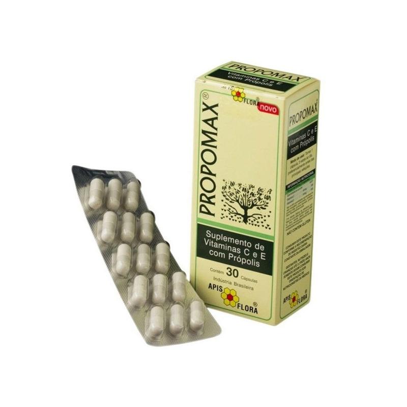 Extrato de Propolis Propomax - 30 Caps. 125mg - Apis Flora