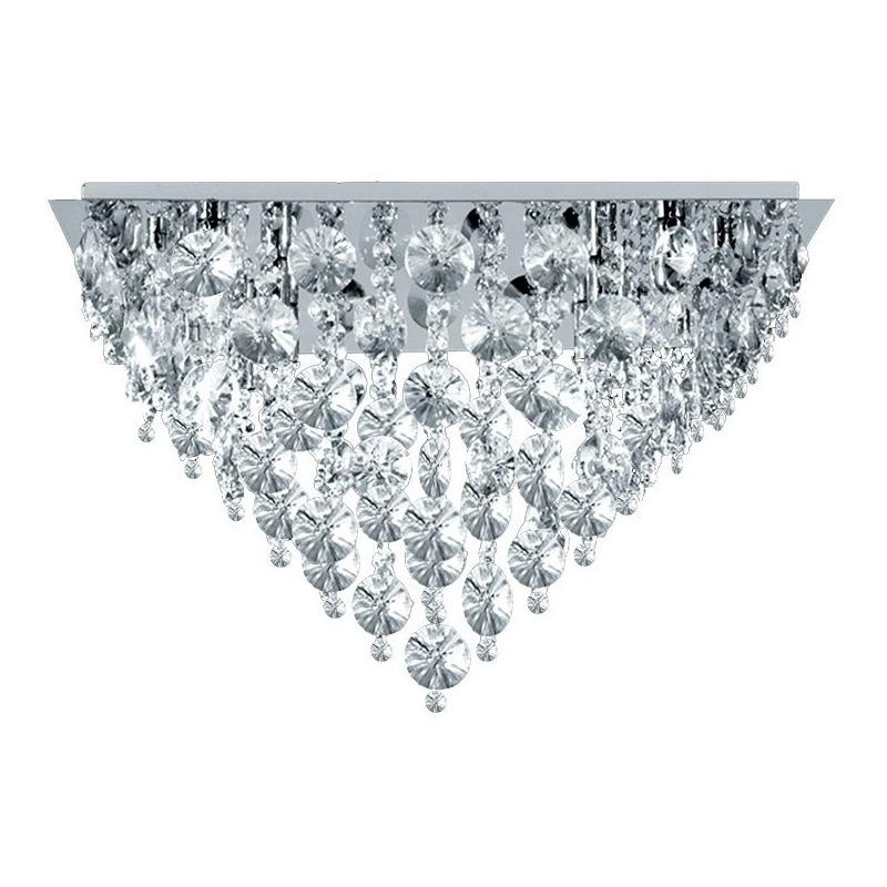 Plafon Morena Cairel 4 Luces Led De Regalo Cristal Acero Mg