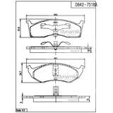 Balata Delantera Chrysler:Neon,Voyager,Yorker,Town Dynamik S7518AD642