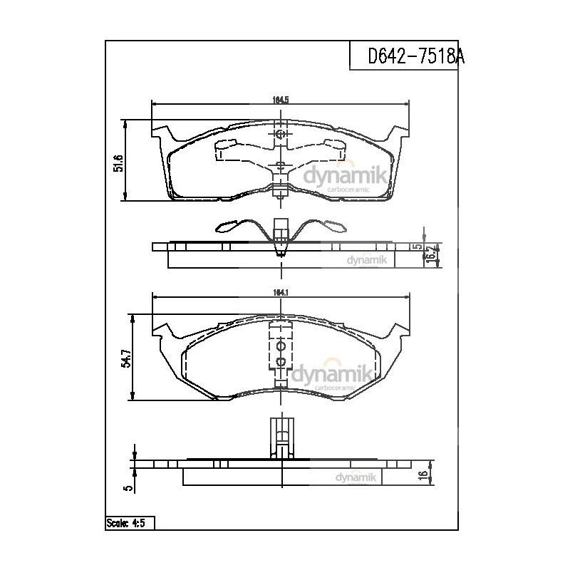 Balata Delantera Chrysler:Neon,Voyager,Yorker,Town Dynamik S7518AD642SD