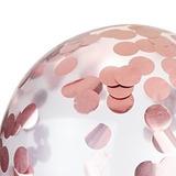 globo confeti rosa gold desinflado apto helio