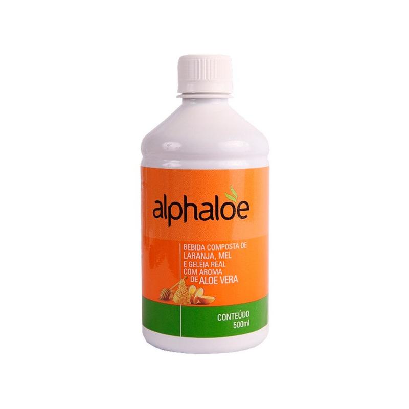 Suco Aloe Vera (Laranja, Mel e Gel. Real) - 500ml - Alphaloe