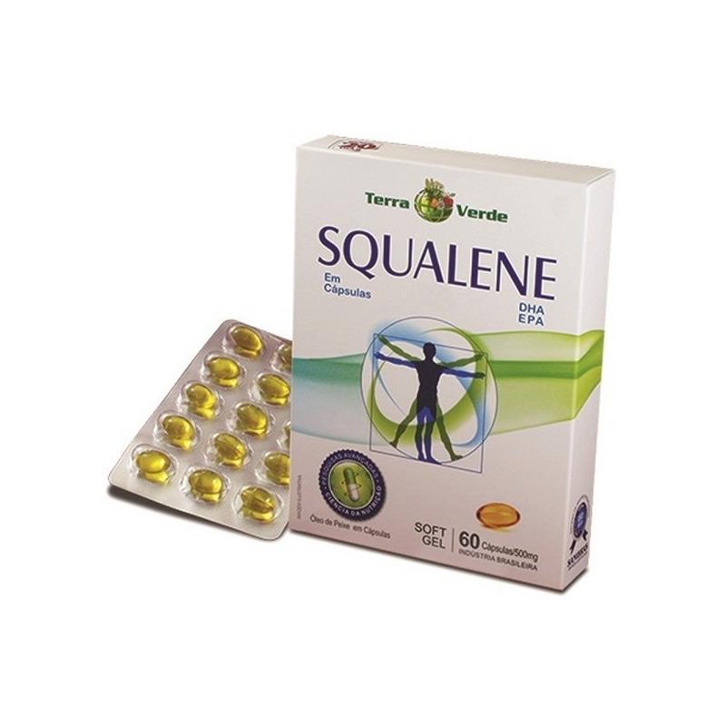 Squalene - omega 3 - 60 Capsulas de 500mg - Terra Verde