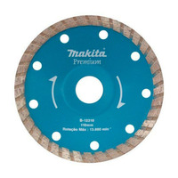 """Disco Diamantado Côncavo Ondulado 110 mm (4.1/2"""") Premium Turbo - B-12310 - Makita"""