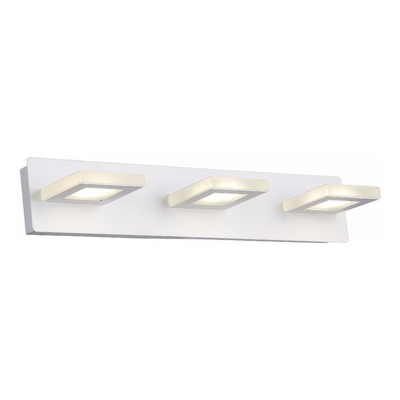 Aplique Pared Luz Led 3 Luces 15w Moderno Baño Interior Mks