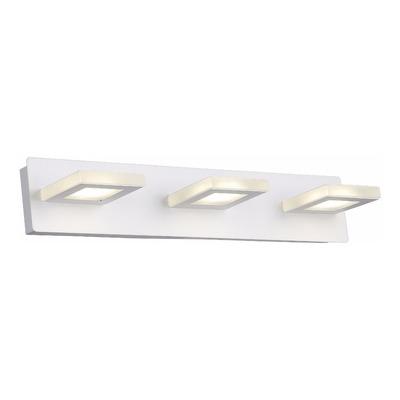 Aplique Pared Luz Led 3 Luces 15w Moderno Baño Interior Mks