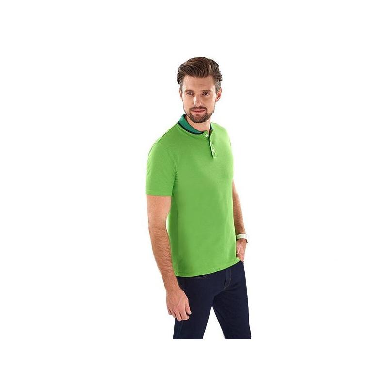 Camisa verde manga corta 014614