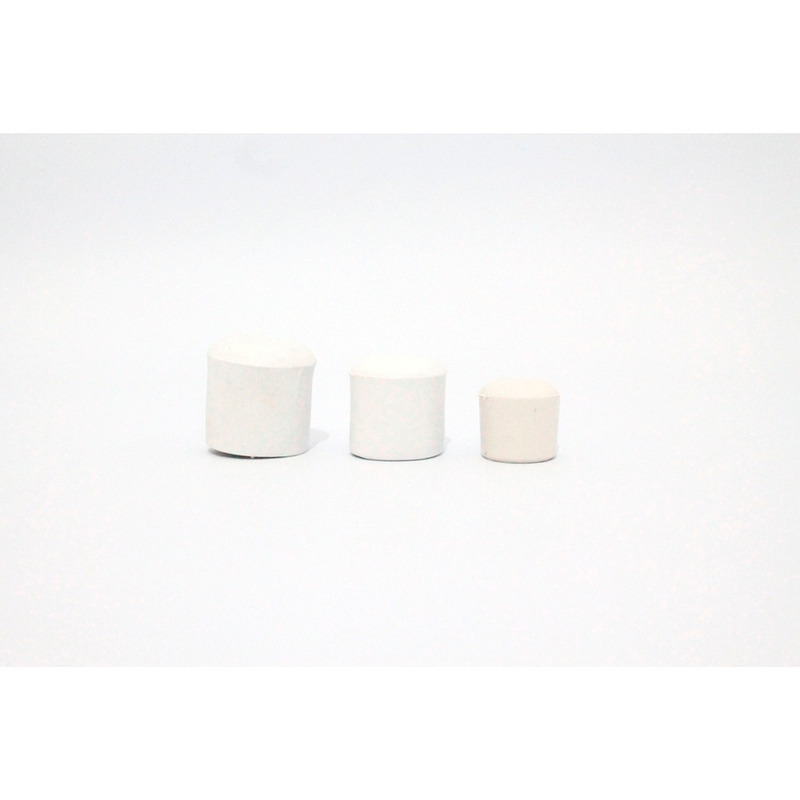 Ponteira grande 7/8 ou 22 mm branca pacote com 100 unidades