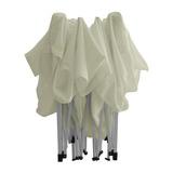 Gazebo 3x3 mts Blanco/Verde Plegable Poliester