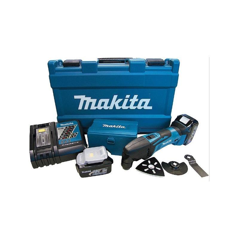 Combo Multicortadora + 2 Baterias 14.4/18V + Maleta e Acessórios - DTM50RFEX1 - Makita