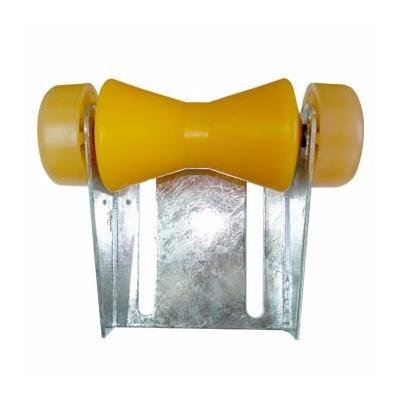 rodillo doble cono con tapas y soporte