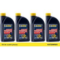Rheinol Aceite Mineral Motos Fouke 4T 20W50 Kit 4p de 1Lt K4T20W501