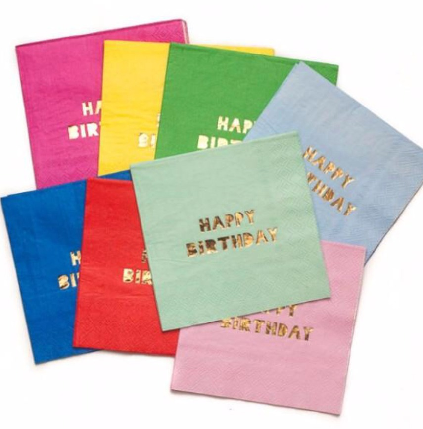 Servilletas Happy birthday
